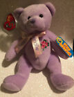 BEANIE BABIES 2007 TY LOVE TO MOM MOTHERS DAY PURPLE BEAR