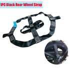 1PC Motorcycle Bike Rear Wheel Transport Tie Down Strap Black Polyester Foldable
