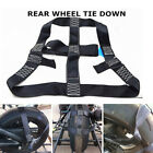 Motorcycle Dirt Bike Rear Wheel Handlebar Transport Bar Tie Down Strap Black 1X