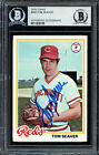 Tom Seaver Autographed Signed 1978 Topps Card #450 Reds Beckett 11628109