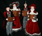 Carolers Statue Raz Imports Christmas Carolers Set 4 New Large Black Red