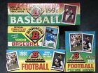 Lot of 3 1991 Bowman Baseball Football Factory Sealed Boxes w Free Open Box