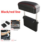 Adjustable PU Center Console Armrest Box Black red line For Car Elbow Support
