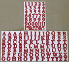 Creative Memories Alphabet Letter ABC and number 123 stickers Cranberry
