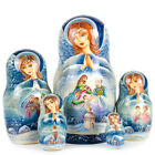 Russian Nesting Dolls Matreshka Angel NATIVITY Beautiful Christmas Set 5 pieces