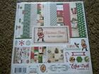 Scrapbooking Craft 12X12 Paper Pack Christmas Time Vintage Santa Ornaments Candy