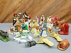 31 pc Lot Misc Vintage Nativity Figures Italy pieces Sheep Kings etc plaster