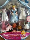 Disney Princess Glitter precious Doll Figures Cinderella with 5 outfits 2 mice