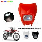 Supermoto Bike Headlight Head Light Fairing Red For Honda CRF150F CRF230F 15-20