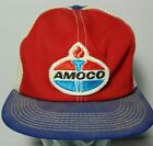 Vintage Amoco Gas Oil Patch Red Blue DENIM SNAPBACK TRUCKER HAT CAP K-BRAND USA