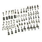 70pcs Retro Mixed Music Notes Charms Jewelry Making Crafts Beading Pendants
