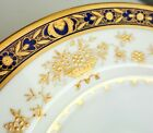 Minton Dynasty Cobalt Blue Gold Encrusted 10 5 8 Dinner Plate Bone China H3775