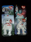 TY RONALD MCDONALD HOUSE SET 2 GLORY THE BEAR AND MAPLE THE BEAR UNOPENED BEANIE