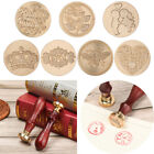 Wooden Handle Classic Brass Hea Paint Seal Wax Seals Wax Stamp Stamps Sealing