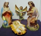 VINTAGE JAPAN PAPER MACHE LARGE NATIVITY PIECES MARY JOSEPH BABY JESUS ANGEL