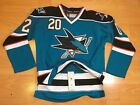 San jose sharks jersey Size 48 Authentic Fight Strap RARE NABOKOV NHL CLEAN!!