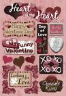 Scrapbooking Crafts KF Stickers My Heart Happy Valentines Day Chocolate Kisses
