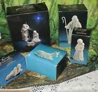 VINTAGEAVON NATIVITY SET COLLECTIBLE 7pc WHITE PORCELAIN LARGE SIZE 1981+