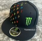 MONSTER ENERGY ATHLETE ONLY HAT fitted size 7 1 2 Red Bull