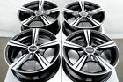 14x6 Black Wheels Fits Toyota Yaris Prius C Mr2 Echo Corolla Civic Kia Rio Rims