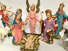 Vintage Depose ITALY 13 Piece Nativity Set Figurines Spider Mark Fontanini