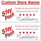 30 Thank You Stickers for Poshmark Sellers Custom Name Labels Red Logo