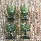 Paired Set vintage INDIANA COLONY PARK LANE GREEN Goblets