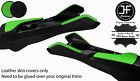 BLACK  GREEN 2X KNEE PAD LEATHER  ARMREST COVERS FOR CHEVROLET CAMARO 16 20