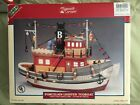 LEMAX VILLAGE COLLECTION PLYMOUTH CORNERS BESSIE works LIGHTED TUGBOAT BOX EUC