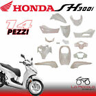 Set Fairings Complete 14 Pieces White Pearl Honda Sh 300 I 2011