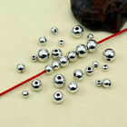 100 50Pcs Stainless Steel Silver Big Hole Round Spacer Beads DIY Jewe SL