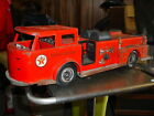 GIANT VINTAGE 1960 BUDDY L TEXACO FIRE CHIEF FIRE TRUCK