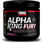 FORCE FACTOR ALPHA KING FURY TESTOSTERONE BOOSTER BUILD MUSCLE FAST- RETAIL $40