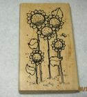 Hooks Lines  Inkers  Rubber Stamp Alis Sunflowers Large Size