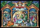 Stained Glass Nativity Religious Christmas Cards Box Of 15 Cards 16 Envelope