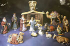 Ceramic Bisque 15 Pc Large Nativity Scene Kimple 1700 Set U Paint Ready To Paint