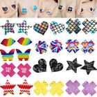 Sequin Heart Star Pasties Adhesive Nipple Cover Sticker Bra Pad Patch Disposable