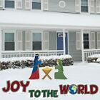 Joy to the World Nativity Christmas Lawn Decorations FREE SHIPPING