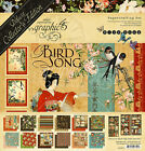 Graphic45 BIRD SONG DELUXE COLLECTORS EDITION scrapbooking PAPER STICKERS CHPBD