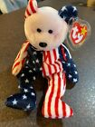 SPANGLE (PINK FACE) BEAR TY BEANIE BABY MWMT