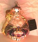 Large Vintage POLONAISE Glass Christmas Ornament Nativity Wise man Gift of Gold