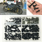 177Pcs Motorcycle Fairing Bolt Kit Bodywork Screws Fastener Clips Black Aluminum
