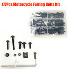 Motorcycle Fairing Bolts Fasteners Clips Screws Accessories Kit Black Aluminum