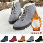 Women's Winter Warm Ankle Snow Boots Fur Thicken Ski Flats Casual Slip On Shoes