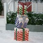 Holiday Time Light Up Stacked Gift Boxes Outdoor Christmas Dcor 42 in