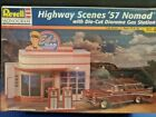 Revell Highway Scenes 57 Nomad With Die-Cut  Diorama Gas Station 1:24 Scale 1997