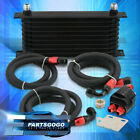 9-Row N/A Turbo Oil Filter Cooler Relocation Adapter Sandwich Plate Kit Black