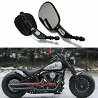 Rear View Mirrors For Harley Touring Road King Sportster XL883 1200 Dyna Softail