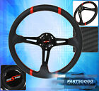 For Nissan 6Bolt 350mm 35 Deep Dish Steering Wheel Carbon Fiber Pvc Leather Rd
