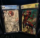 CGC 9.8 SPIDER-MAN DEADPOOL SIGNED LIEFELD CONVENTION EDITIONS